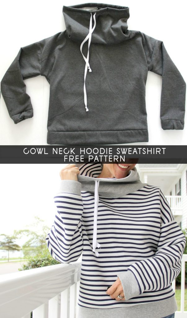 Women's Cowl Neck Sweatshirt Free Sewing Pattern