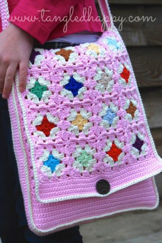 Granny's Messenger Bag Free Crochet Pattern