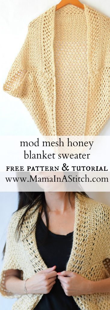 Mesh Blanket Sweater Crochet Pattern