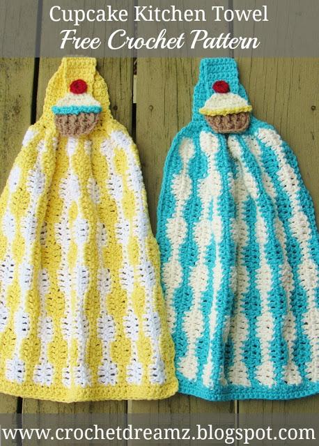 Cupcake Kitchen Towel Crochet Pattern