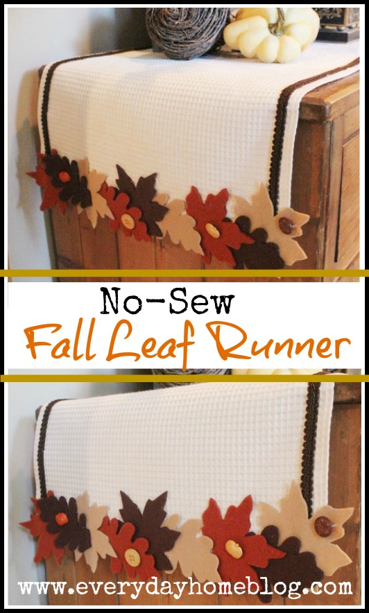 No Sew Fall Leaf Runner