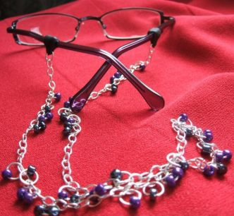 Beaded Chain Eyeglass Holder