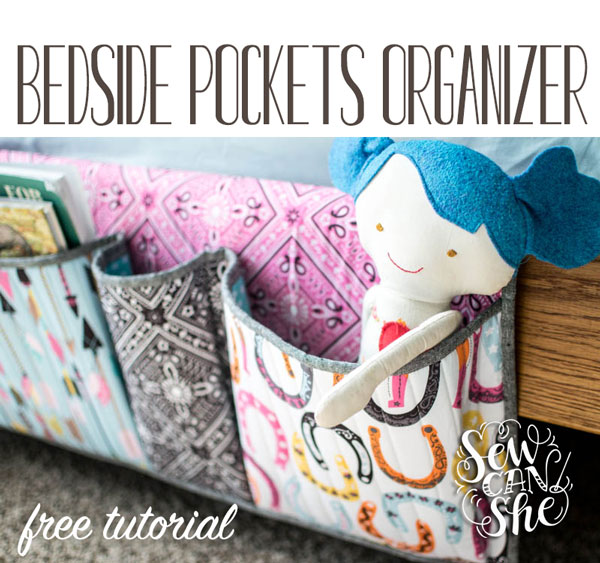 Bedside Pockets Organizer Free Sewing Tutorial