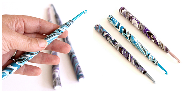 DIY Polymer Clay Crochet Hook Handles