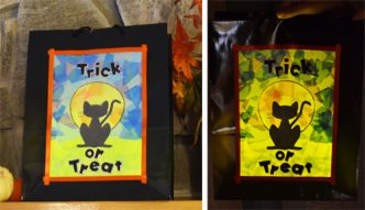 Light Up Halloween Treat Bag