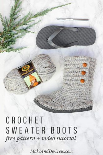 Crochet Flip-Flop Boots Pattern and Videos
