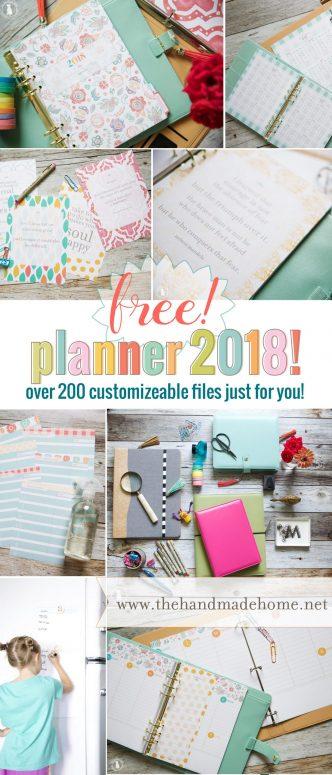 2018 Free Planner Printables