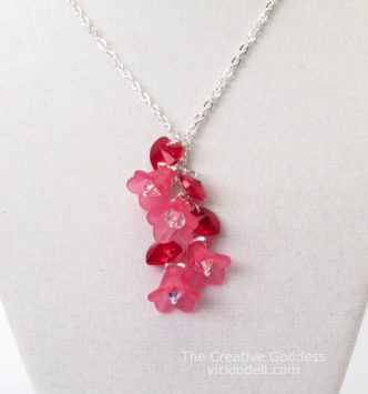 DIY Hearts and Flowers Necklace