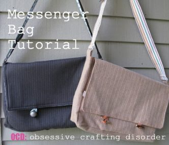Messenger Bag Sewing Tutorial