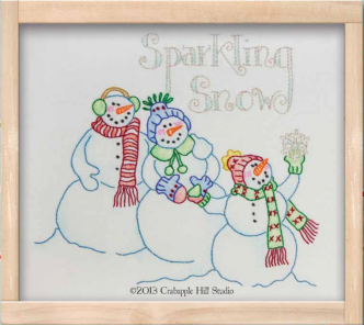 Sparkling Snow Embroidery Pattern