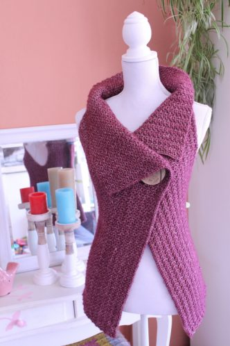 Peek-a-Boo Button Wrap Crochet Pattern