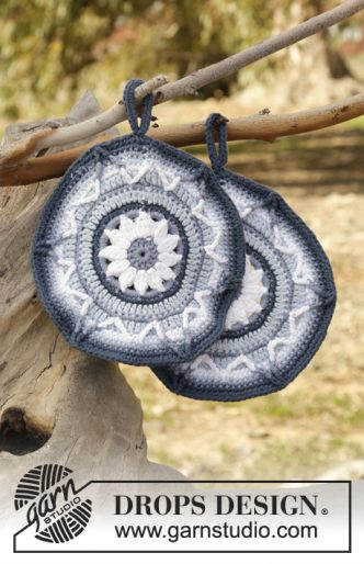 Soleil Bleu Potholders Crochet Pattern