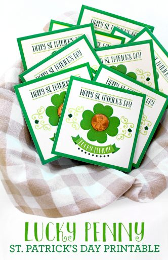 Printable Lucky Penny St. Patrick's Day Cards