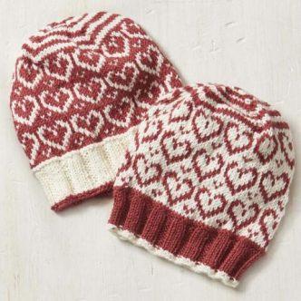 Sweetheart Hat Free Knitting Pattern