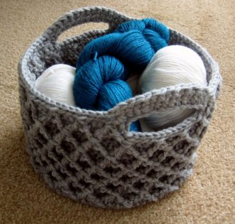 Diamond Trellis Basket Crochet Pattern