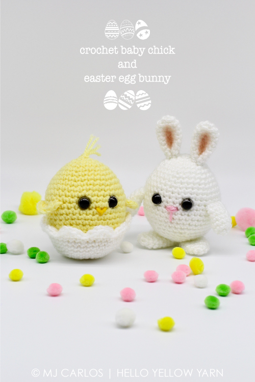 Crochet Baby Chick and Easter Egg Bunny – Free Pattern