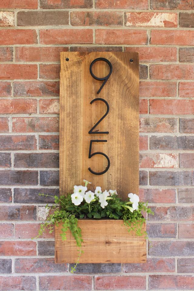 DIY House Number Planter