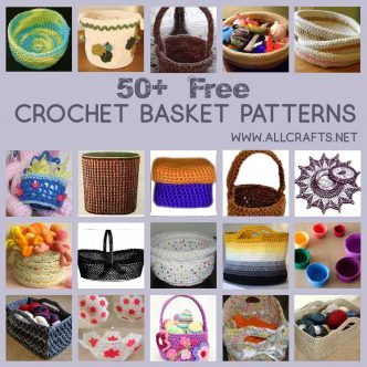 50 Free Crochet Basket Patterns