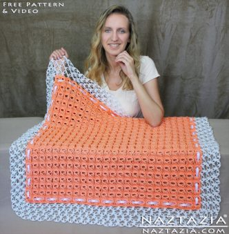Broomstick Lace Crochet Blanket Pattern
