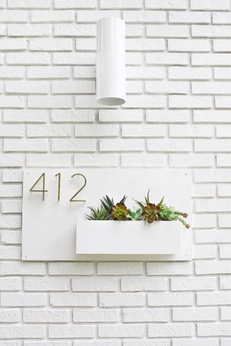DIY Modern House Number Planter